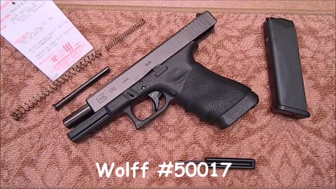 Glock 17 Wolff Guide Rod and Spring Installation