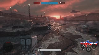 Star Wars Battlefront: Overpower mission gameplay