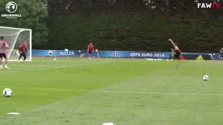 Gareth Bale scores a stunner in training before Wales vs England - Video