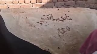 Have you ever seen such a big and thin bread (chapati) with Shadi Mubarak writing on?  - Video