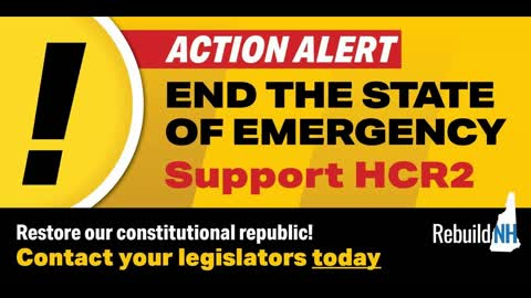 Testimony From Public Hearing on HCR2 - End The State of Emergency in NH!