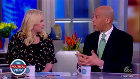 Meghan McCain Confronts Cory Booker Over Clinton's Anti-Trump Comments