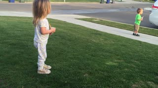 These Funny Twins Getting Excited For The Garbage Truck Is Priceless - Video