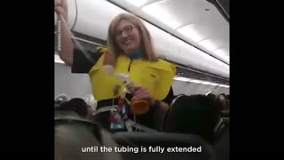 Hilarious Flight Attendant