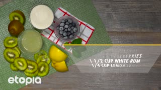 Kiwi and Blueberry Mojito - Video