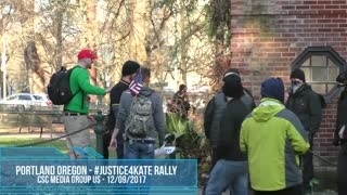 Tiny Takes On And Battles AntiFa To Protect Patriots At Portland Justice4Kate Rally