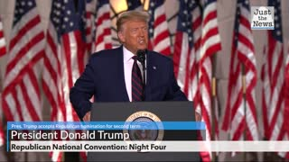 President Trump formally accepts Republican nomination for second term