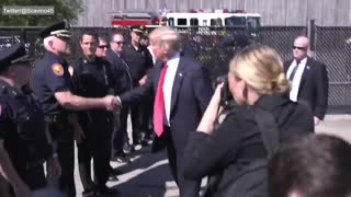 President Donald Trump Supports The Police - Video