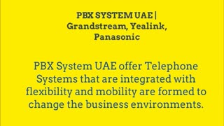 Grandstream Phones Dubai - Video