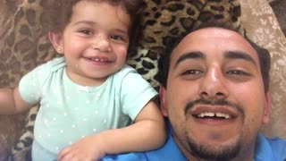 A dad begins to beatbox for his daughter. But what she does next will have you smiling! - Video