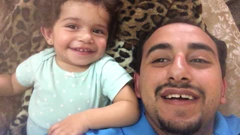 A dad begins to beatbox for his daughter. But what she does next will have you smiling!