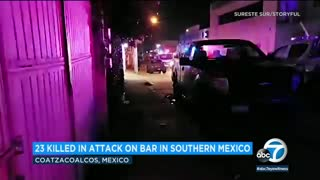 Dozens killed after cartel-linked attack on a bar in Mexico