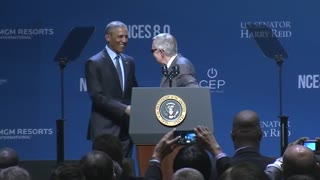 Obama touts clean energy initiatives at Las Vegas conference - Video