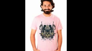 White Colour Graphic Design Printed T Shirts - Video