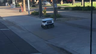 Food delivery robot at Arizona State University