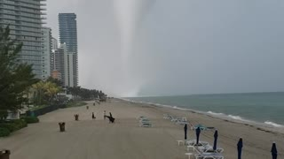Waterspout Touches Down on Florida Beach