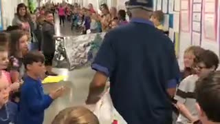 80-Year-Old Janitor Receives Birthday Surprise From Nearly 800 Students