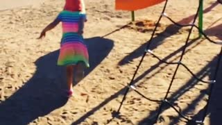 Collab copyright protection - child playground running faceplant - Video