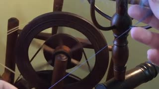 First Spin with Chair Wheel and Distaff