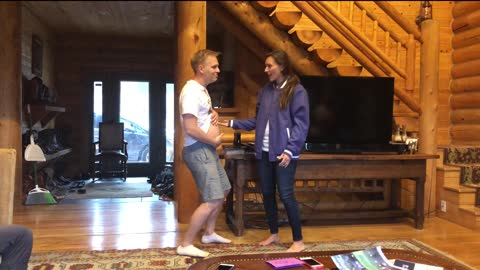 Lip syncing performance reveals surprise baby announcement