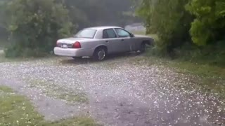 Insane hail storm caught on camera