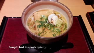 Day 3 Udon noodle in Japan, the simplest and healthiest common food in Japan $4.50 no Tip  - Video