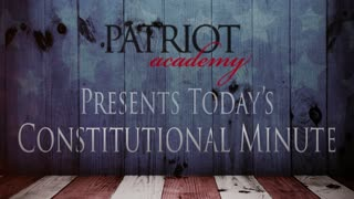 Today's Constitutional Minute: What Does the 2nd Amendment Really Mean?