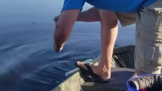 He thought he caught a catfish - it was something else entirely!
