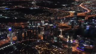 The night view from the highest peak of burj khalifa