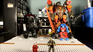 TRANSFORMATION CiiC ConstructBots DinoFire Grimlock - Video