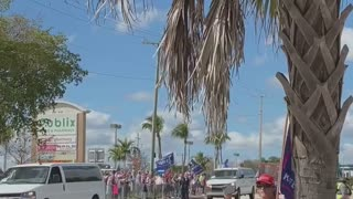 Trump Supporters welcoming President Trump in Florida