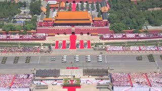 China puts on huge show of force at parade - Video