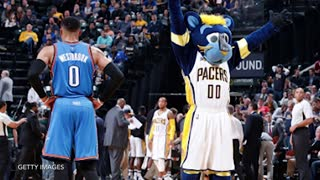 Russell Westbrook TORCHES Pacers for Near Triple-Double, Gives Victor Oladipo a Gift - Video