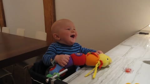 Dad Makes Baby Laugh - Laughing Baby