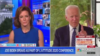 After Joe Biden's brain freezes MSNBC anchor has to feed him a line