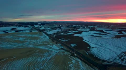 Flying over the Palouse in Moscow, Idaho