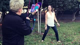 Girl Catches Rose Shot From Bow And Arrow In Mouth - Video