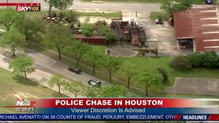 HOUSTON POLICE CHASE of Pick Up Truck... Suspect WIPED OUT...