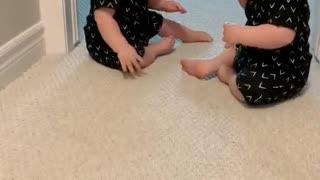 Identical Twin Besties Play Together