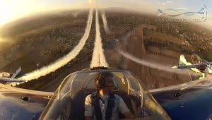 Amazing cockpit view from aerobatic airplane - Video