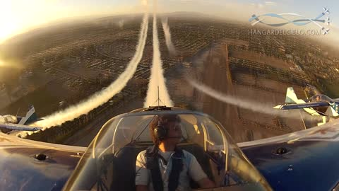 Amazing cockpit view from aerobatic airplane