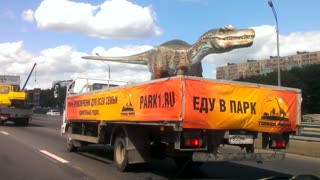Dinosaur On The Highway! - Video