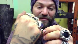 Bam Margera (Part 1) Getting The Rings Cut Off Fingers by Blacksmith Rait in Estonia - Video