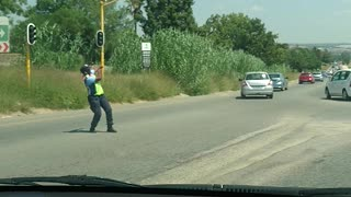 Directing Traffic South African Style - Video
