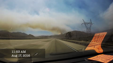 Dashcam captures magnitude of California wildfire