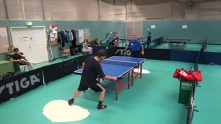 Crazy ping pong shot nails kid in the head - Video
