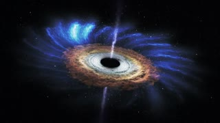 Massive black hole shreds passing star - Video