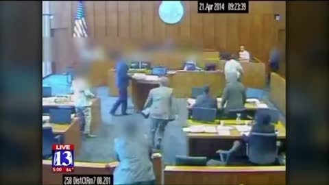Watch: Gang Member Hurls Himself at Witness in Courtroom Before Marshal Fires Four Shots