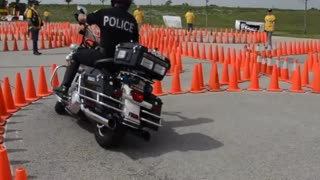 Police Motorcycle Skills - Video