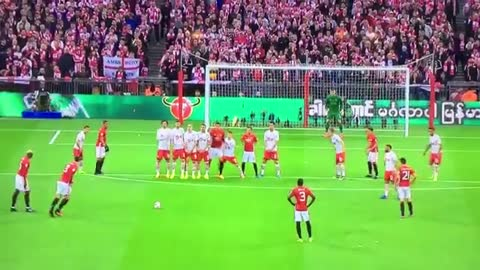 Zlatan Ibrahimovic just scored this beautiful free-kick